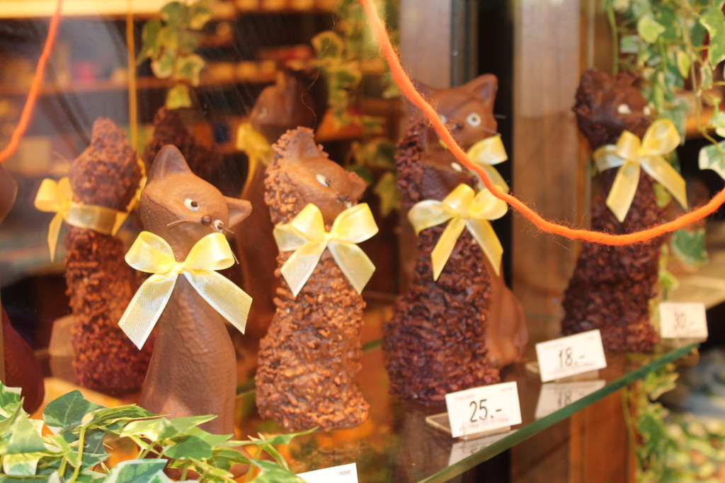Cats made out of Chocolate