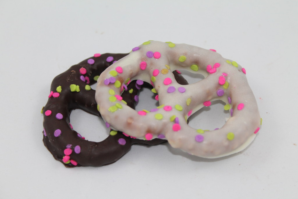 Chocolate covered pretzels Milk, White or Dark